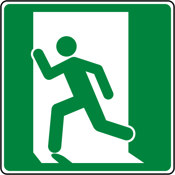 Emergency Exit Symbol (Left) Sign