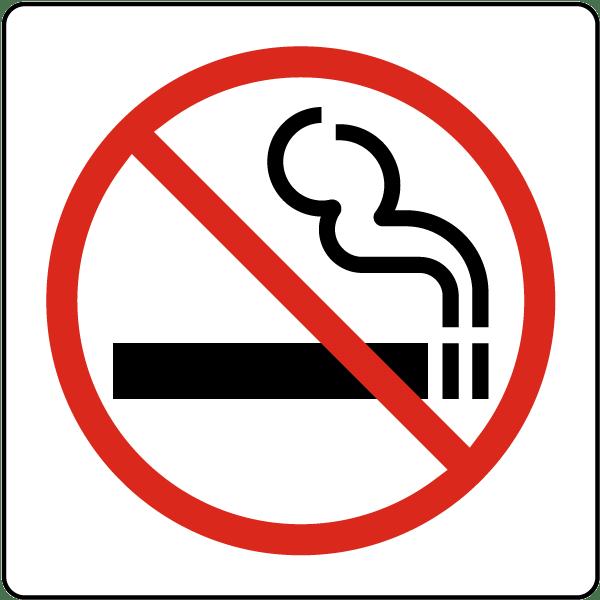 No Smoking Symbol Sign A5360 - by SafetySign.com