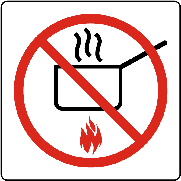 No Cooking Symbol Sign