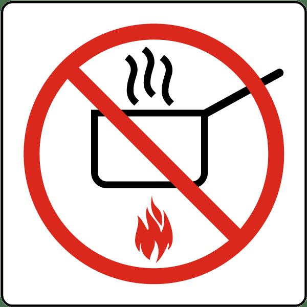 No Cooking Symbol Sign