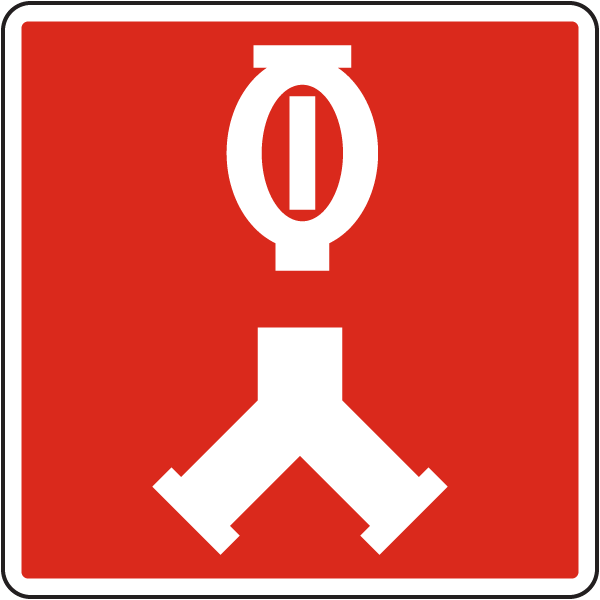 Siamese Automatic Sprinkler Connection symbol sign