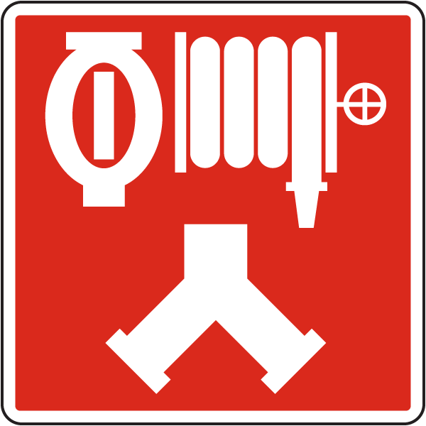 Automatic Sprinkler - Standpipe Connection symbol sign