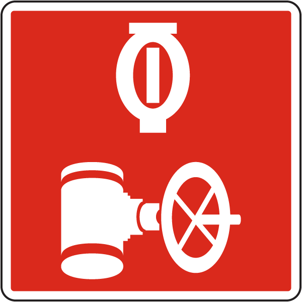 Automatic Sprinkler Control Valve Sign