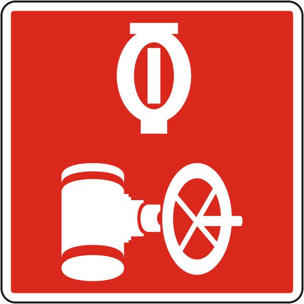 Automatic Sprinkler Control Valve Sign