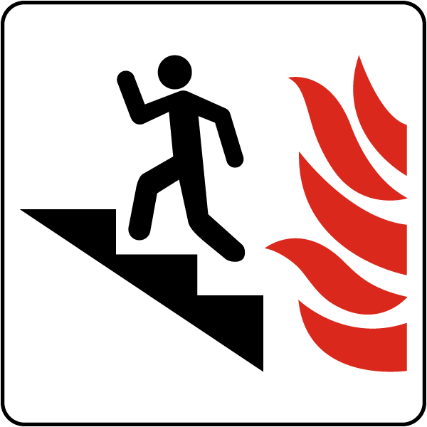 Use Stairs in Case of Fire Sign