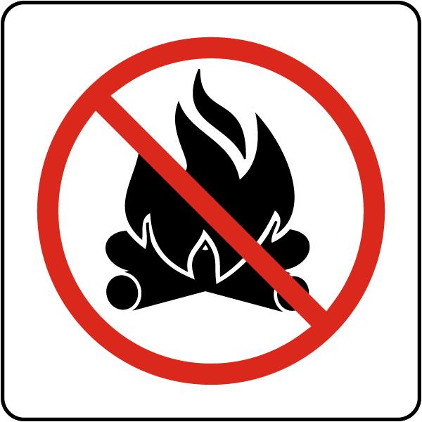 No Campfire Sign