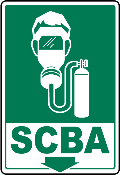 Self-Contained Breathing Apparatus Sign