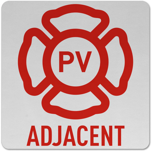 New Jersey Solar Panel Emblem Pv Adjacent Sign By