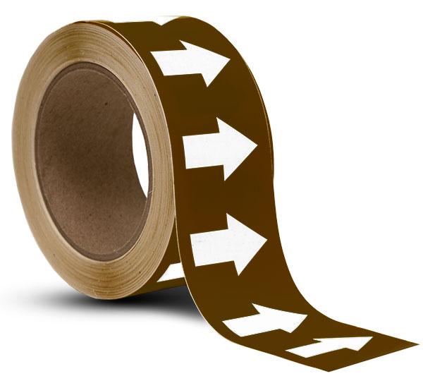 Brown / White Arrow Banding Tape