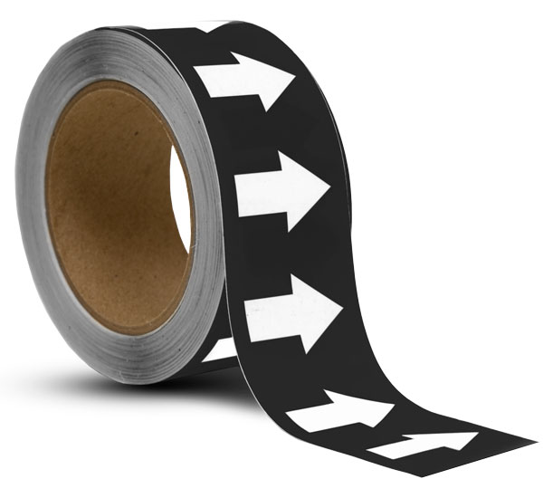 Black / White Arrow Banding Tape
