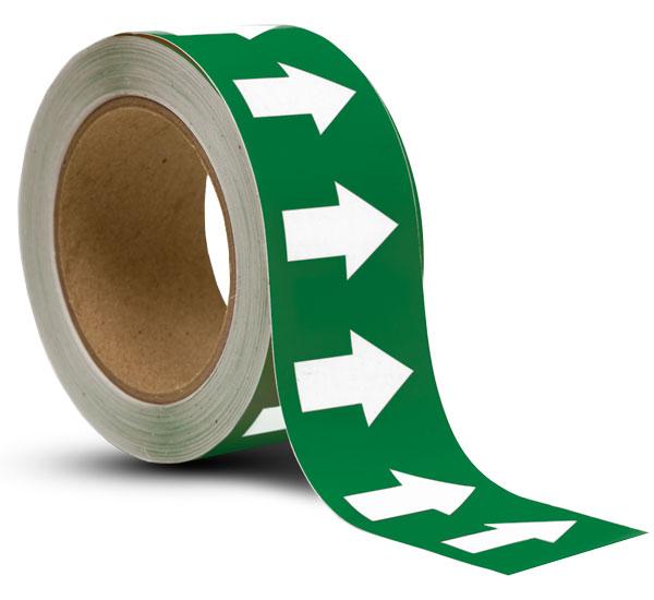 Green / White Arrow Banding Tape
