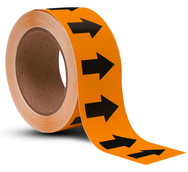 Orange / Black Arrow Banding Tape