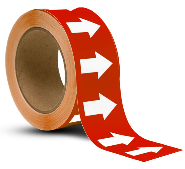 Red / White Arrow Banding Tape