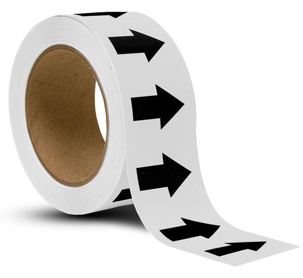 White / Black Arrow Banding Tape
