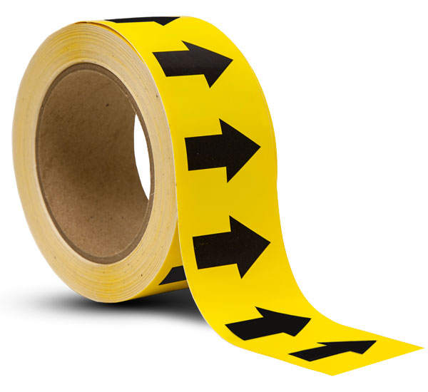 Yellow / Black Arrow Banding Tape