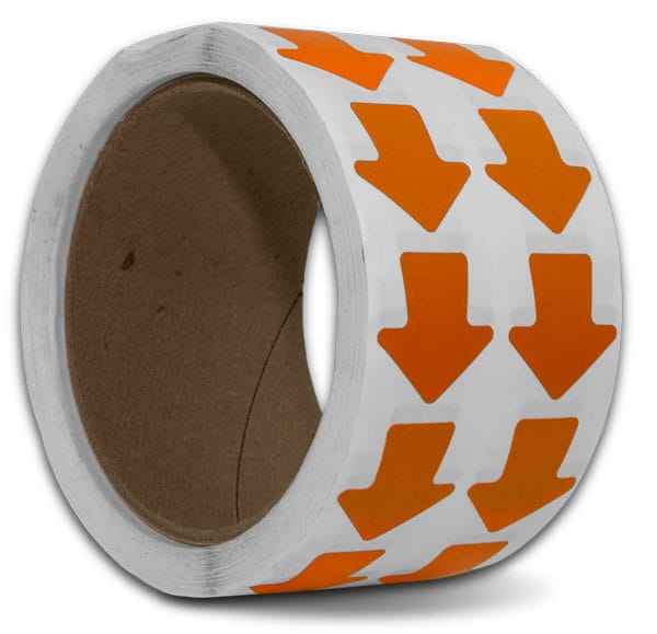Orange Arrow Floor Marking Tape