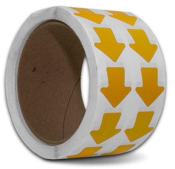 Yellow Arrow Floor Marking Tape
