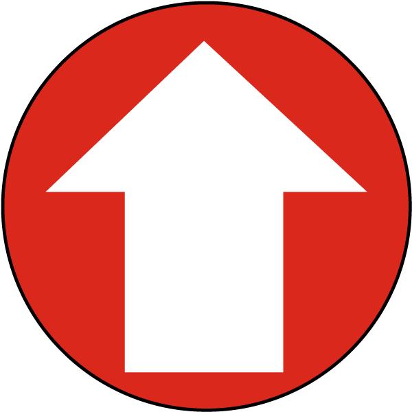 Directional Arrow Floor Sign