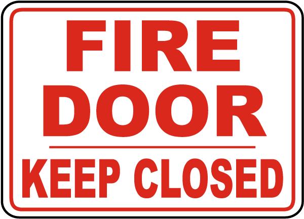 Fire Door Keep Closed Sign