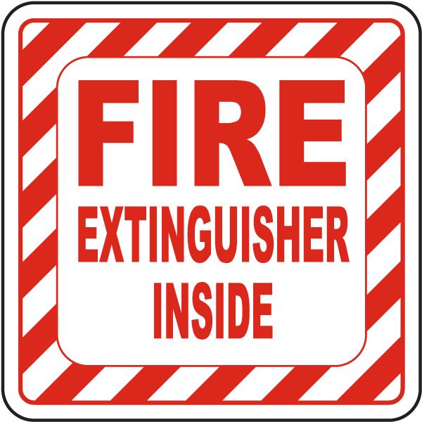 Fire Extinguisher Inside Label