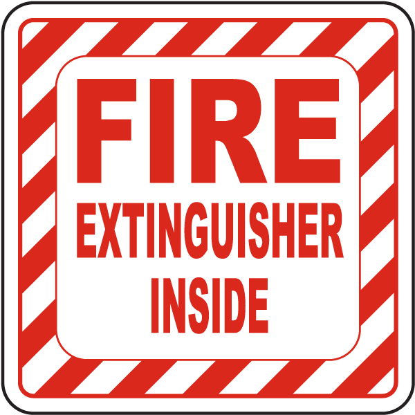 Fire Extinguisher Inside Label