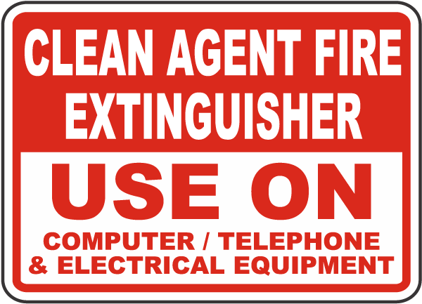 Clean Agent Fire Extinguisher Sign