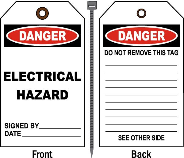 Danger Electrical Hazard Tag