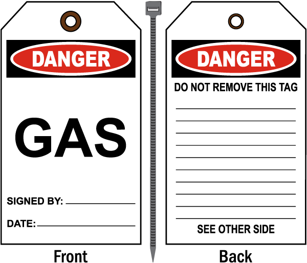Danger Gas Tag