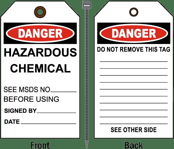 Danger Hazardous Chemical Tag