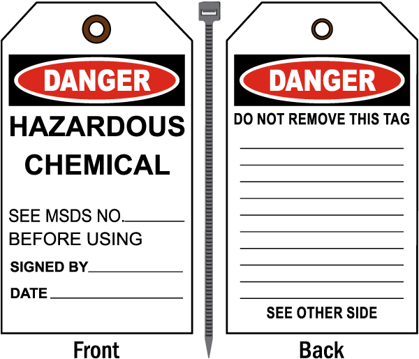 Danger Hazardous Chemical Tag