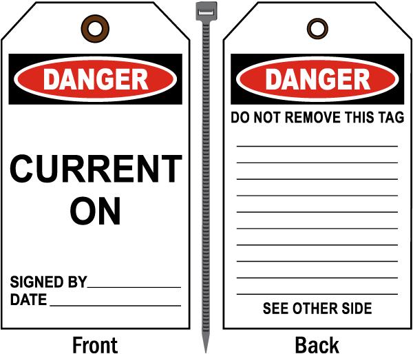 Danger Current on Tag