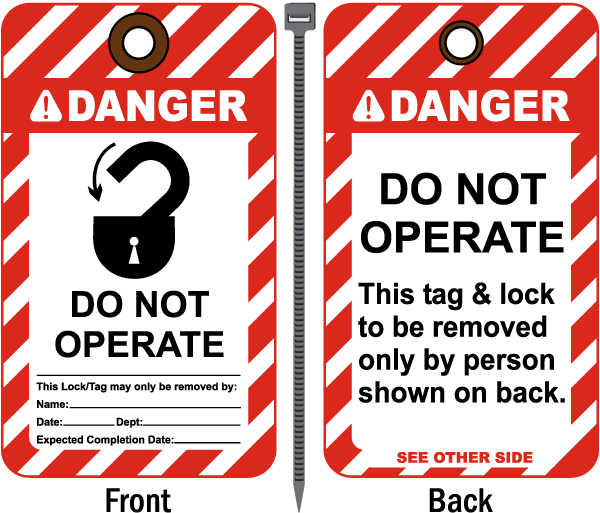 Danger Do Not Operate Tag