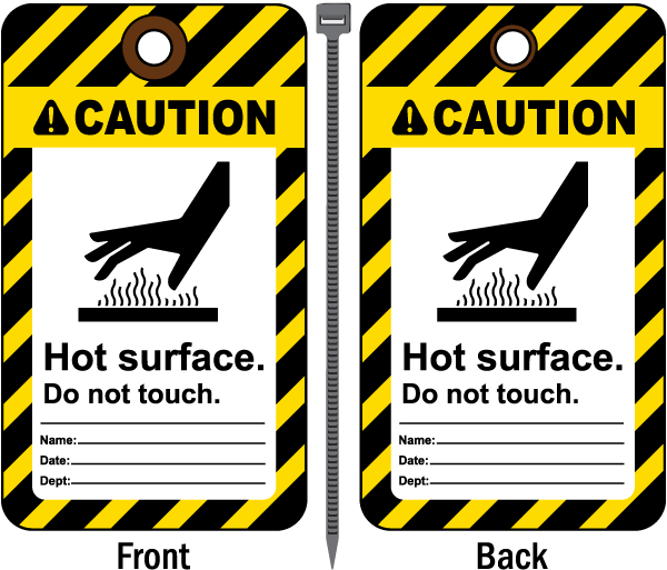 Caution Hot Surface Do Not Touch Tag