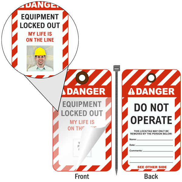 Equipment Locked Out Photo Lockout Tag