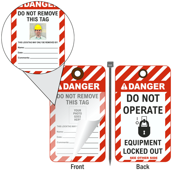 Do Not Operate Photo Lockout Tag