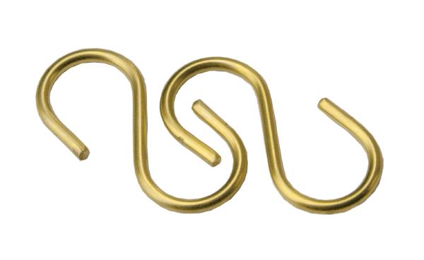 "Brass ""S"" Hooks"
