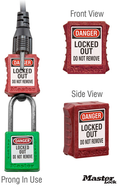 Compact Electrical Plug Prong Lockout