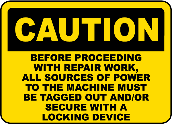 Caution All Sources of Power Label