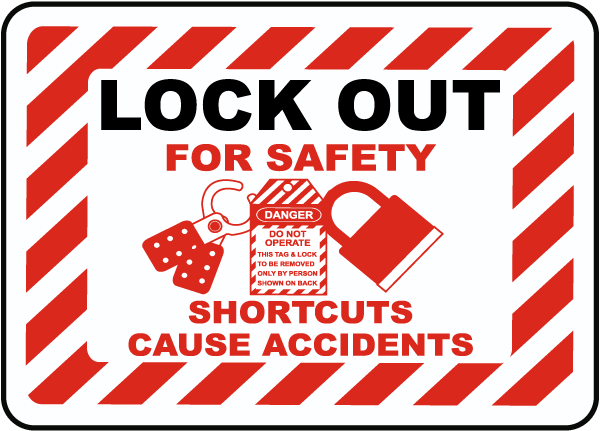 Shortcuts Cause Accidents Label