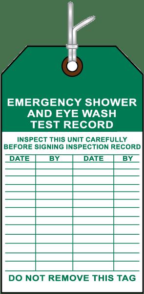 Shower / Eye Wash Test Record Tag