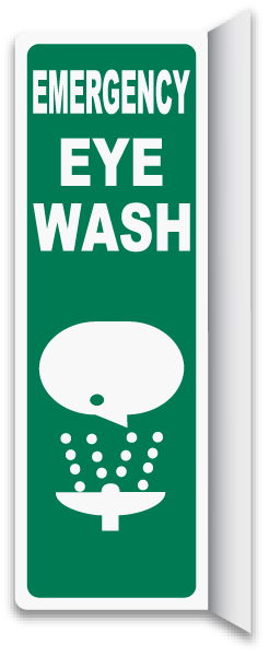 2-Way Emergency Eye Wash Sign