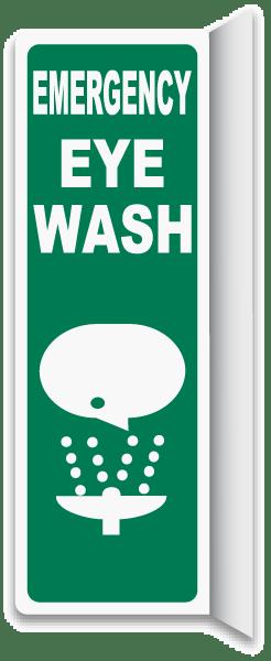 2-Way Emergency Eye Wash Sign