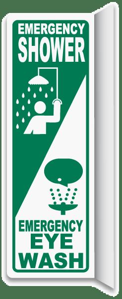 2-Way Shower / Eye Wash Sign