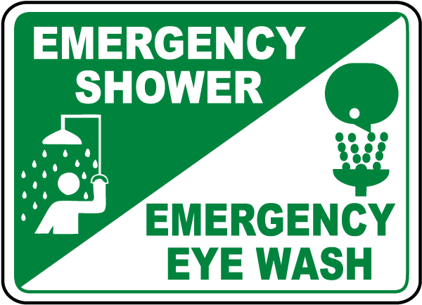 Emergency Shower / Eye Wash Sign