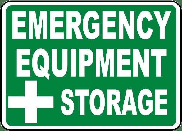 Emergency Equipment Sign