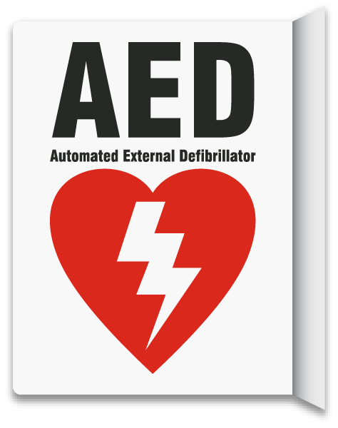 2-Way AED Sign