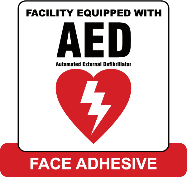 Face Adhesive AED Label