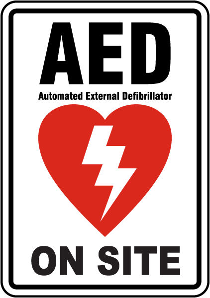 AED on Site Label