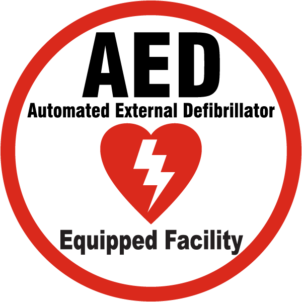 AED Equipped Facility Label