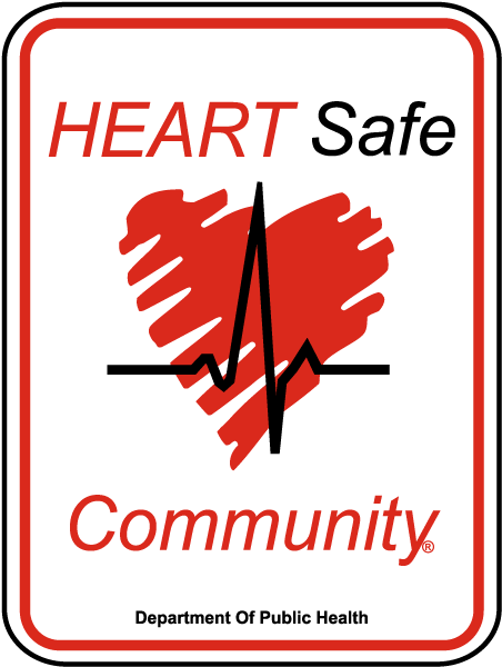 Heart Safe Community AED Sign